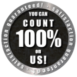 you can count on us 100% satisfaction guaranteed